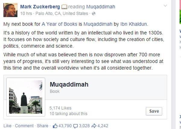 مؤسس فيس بوك مارك زوكربيرج يقرأ مقدمة ابن خلدون #فيسبوك #مارك_زوكربيرج #مقدمة_ابن_خلدون