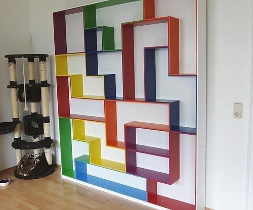 تصميم مبدع لخزانة حائط