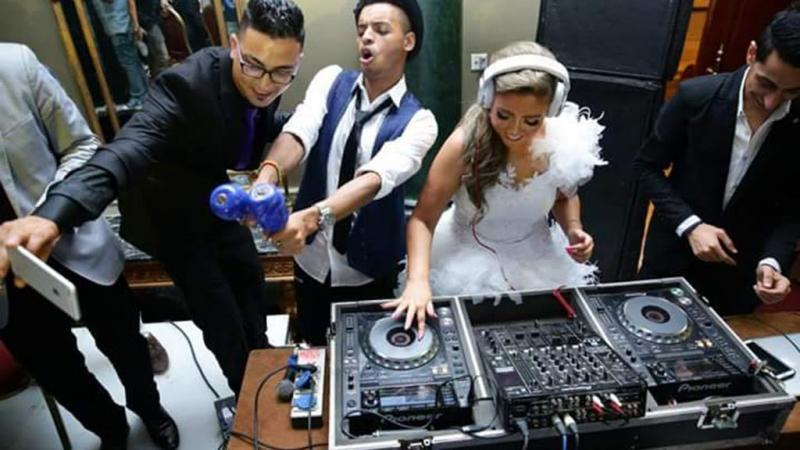 ما قامت به #مي_كساب في حفل زفافها