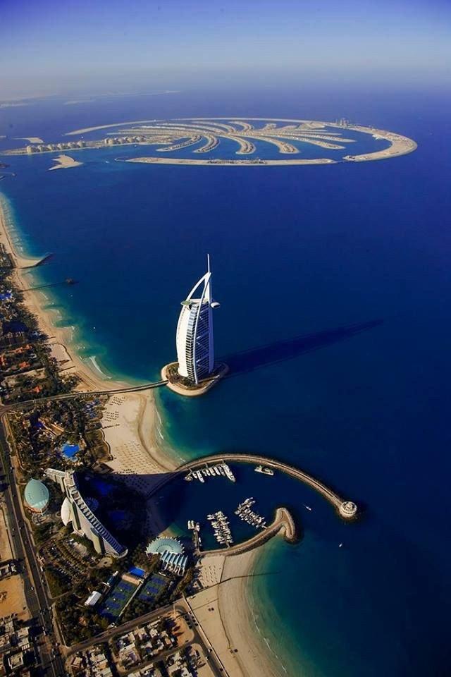 #برج_العرب وجزيرة النخلة في #دبي