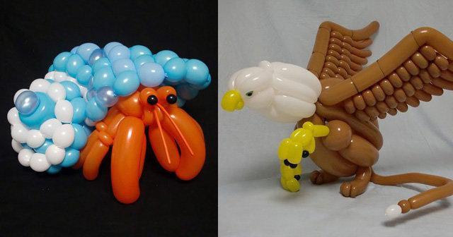 #منوعات مبدع يجسد الحيوانات ببالونات ملونة #غرد_بصوره صوره 1