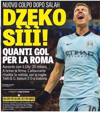 اللاغازيتا : 23 مليون يورو تنقل #دزيكو من السيتي إلى #روما الإيطالي