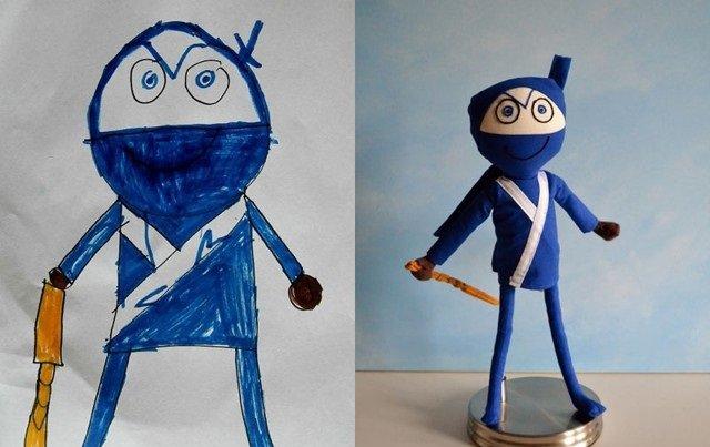 فنان يحول رسومات الصغار إلى ألعاب حقيقة #غرد_بصورة-صورة9