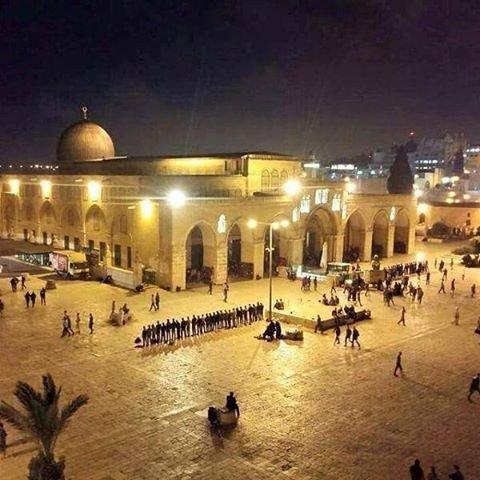 المسجد الأقصى المبارك ليلاً