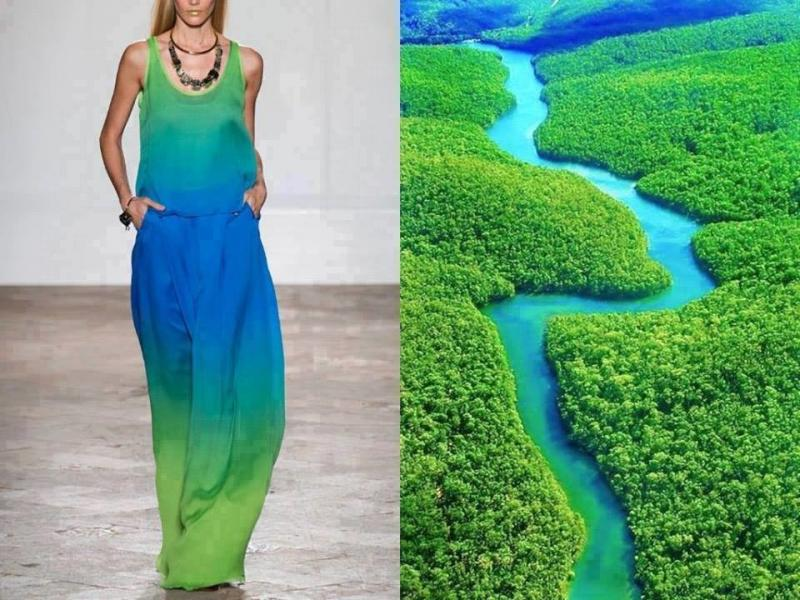 تصاميم أزياء مستوحاة من الطبيعة #ستايل #موضه -صورة 5