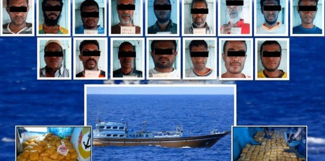 شرطة دبي تحبط تهريب 145 كيلو هيروين في المياه الدولية