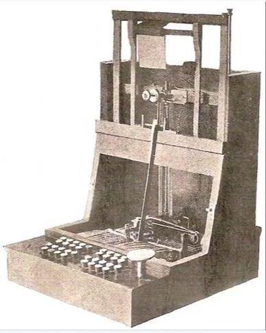 أول آلة كاتبة في العالم يعود تاريخها إلى العام 1860