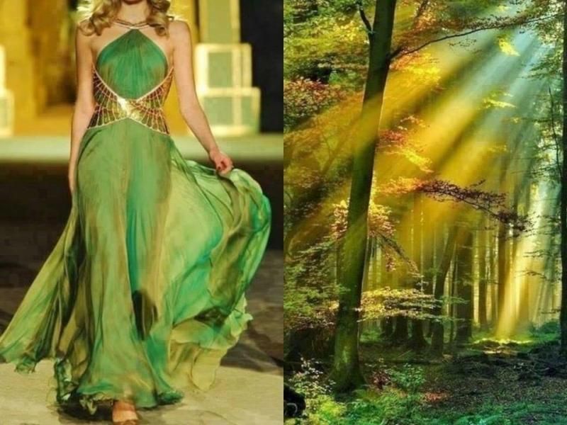 تصاميم أزياء مستوحاة من الطبيعة #ستايل #موضه -صورة 1