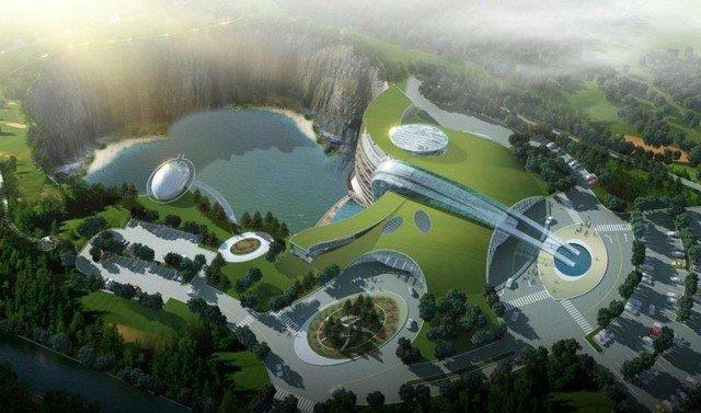 #الصين تبدأ في بناء فندق فخم تحت الارض #غرد_بصوره صوره 2