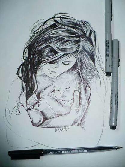 رسم بقلم التحبير للرسام #محمد_السلفيتي