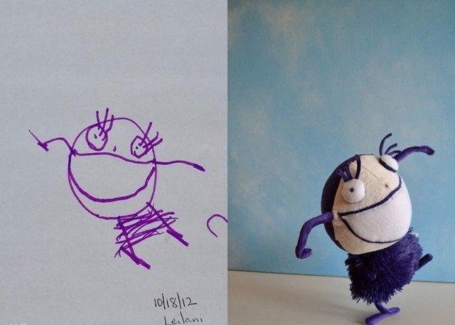 فنان يحول رسومات الصغار إلى ألعاب حقيقة #غرد_بصورة-صورة5