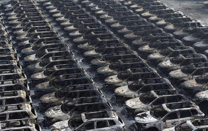 صور انفجار مصنع كيماويات تيانجين في #الصين - صورة ٢