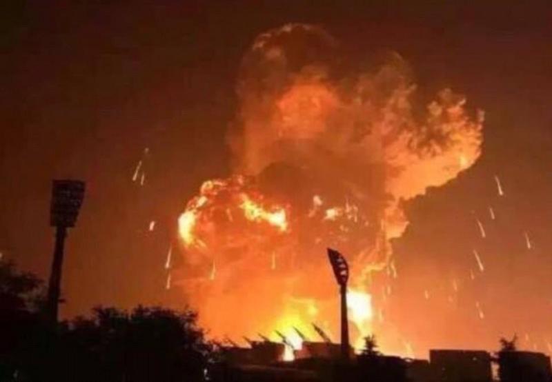 صور انفجار مصنع كيماويات تيانجين في #الصين - صورة ٣