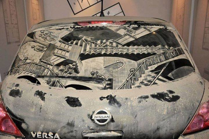 فن الرسم على غبار السيارات #غرد_بصوره صوره رقم 4