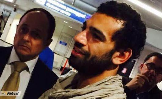 استقبال صلاح في المطار الإيطالي #روما #كوره رقم 2