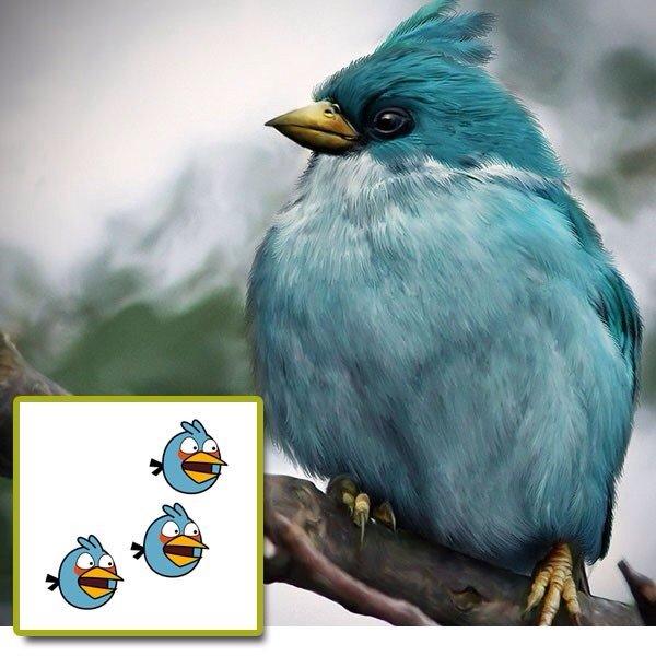 النسخ الحقيقية لطيور لعبة #Angry_birds - صورة ٤