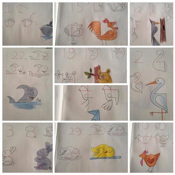 تعليم الأطفال الرسم من خلال الأرقام بطريقة بسيطة