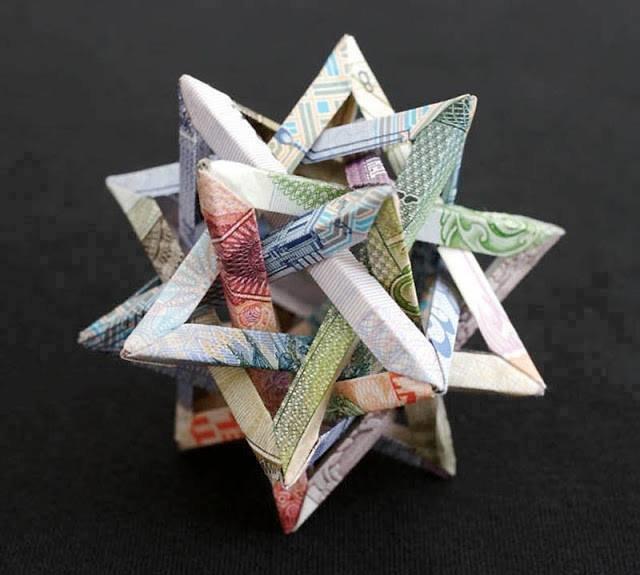 أجمل الأشكال الهندسية المكونة من المال ومن العملة الورقية #غرد_بصورة -صورة 4