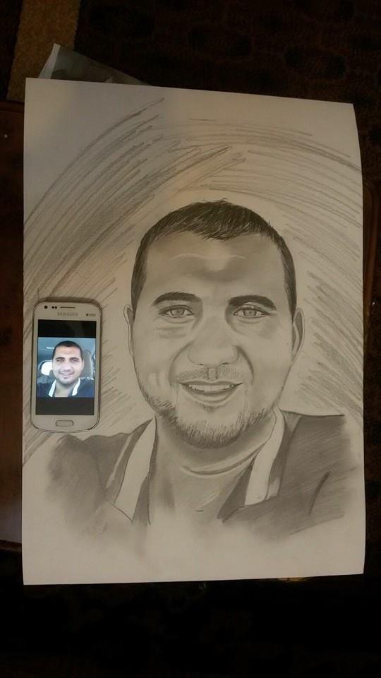 رسم كما في الواقع للرسام #محمد_السلفيتي