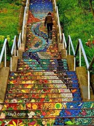 #فن الرسم على الدرج #غرد_بصوره صوره رقم 3