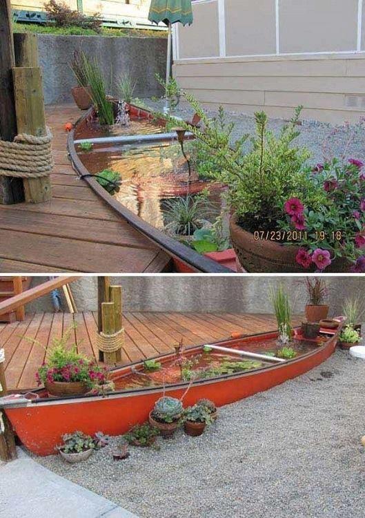 من اجمل تصاميم احواض اسماك الزينة في فناء البيت #غرد_بصوره صوره رقم9