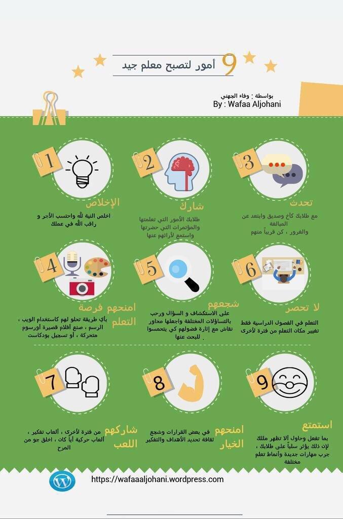 كيف تصبح معلما جيدا؟ #انفوجرافيك
