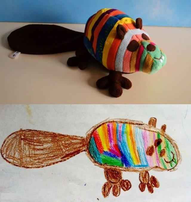 فنان يحول رسومات الصغار إلى ألعاب حقيقة #غرد_بصورة-صورة1