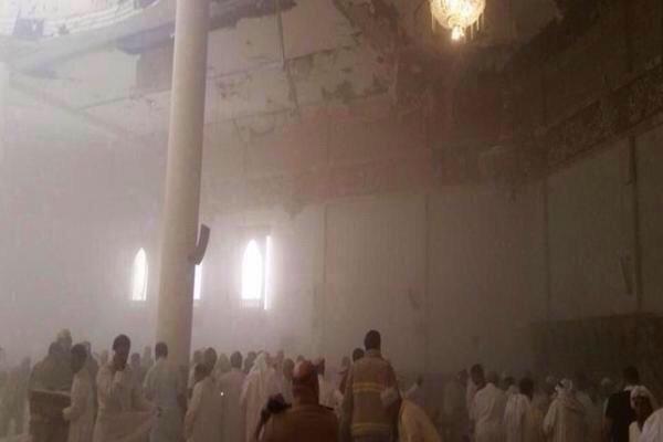 مسجد قوات الطوارىء في عسير بعد #تفجير_طوارىء_عسير