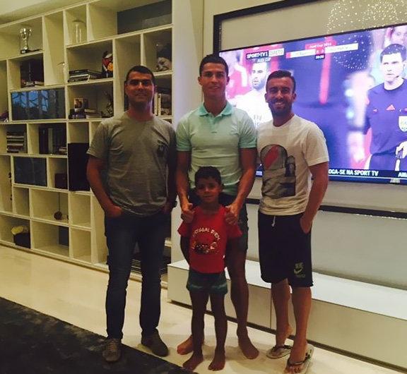 #رونالدو يقوم باشياء طفولية مع ابنه الصغير #كوره صوه رقم 4