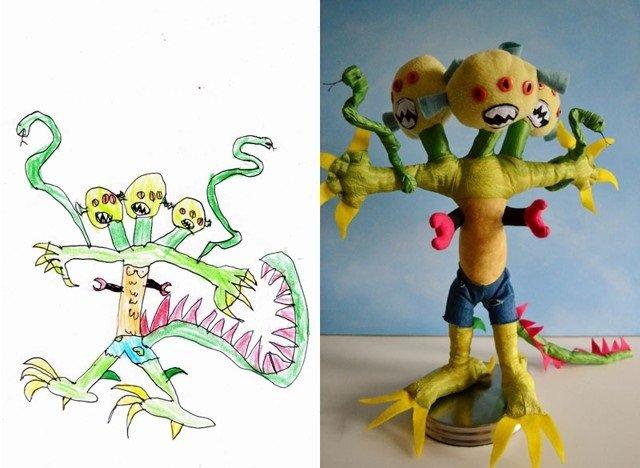 فنان يحول رسومات الصغار إلى ألعاب حقيقة #غرد_بصورة-صورة3