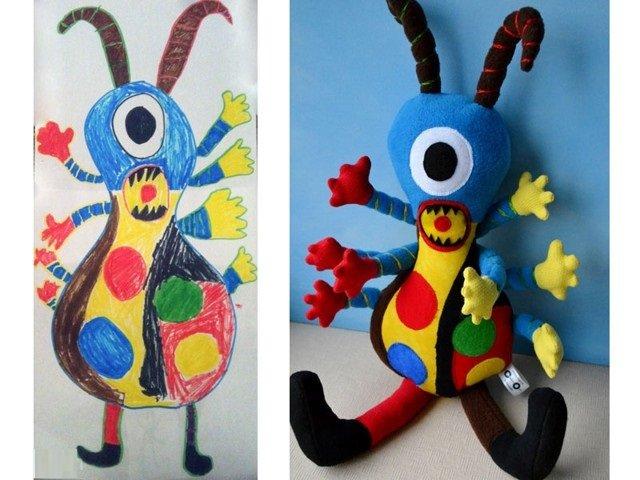فنان يحول رسومات الصغار إلى ألعاب حقيقة #غرد_بصورة-صورة2