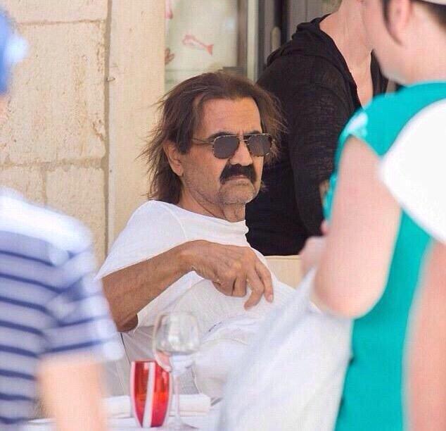 أمير #قطر السابق حمد بن خليفة ال ثاني يقضي إجازته الصيفية في ديبروفونيك #كرواتيا - صورة ٣