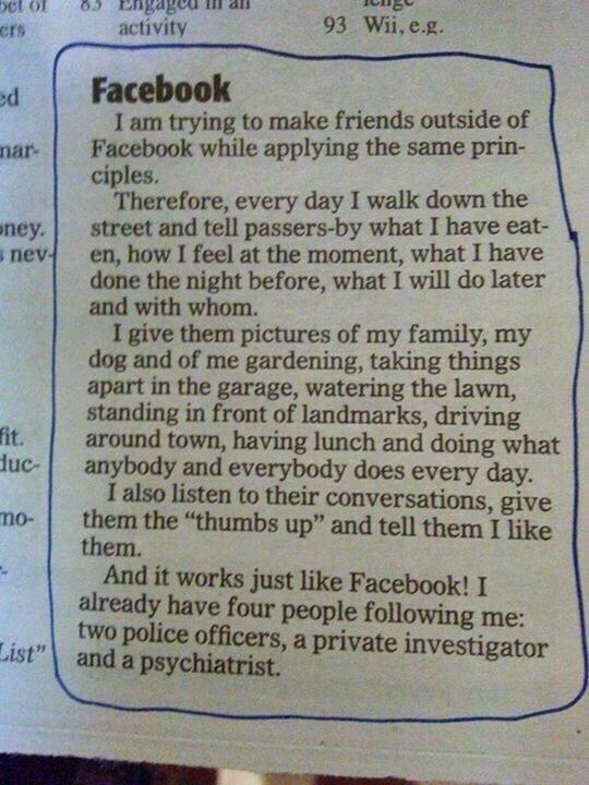 عندما تحاول نقل تجربة #فيسبوك للواقع