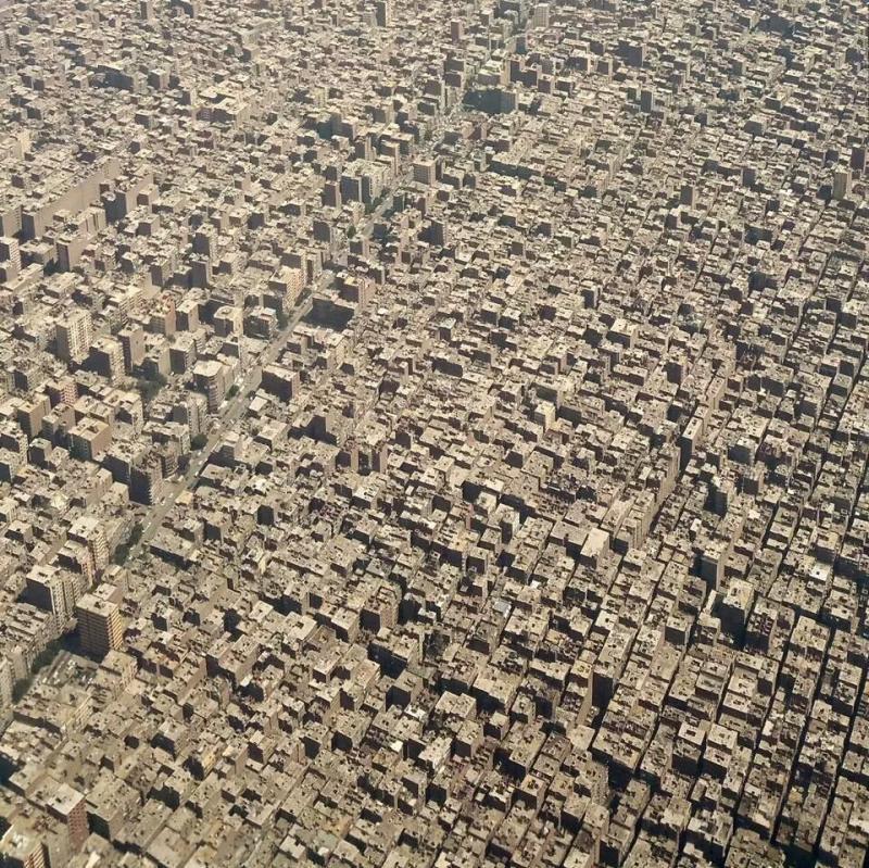 صورة جوية لمدينة #القاهرة تظهر كأنها صحراء #مصر