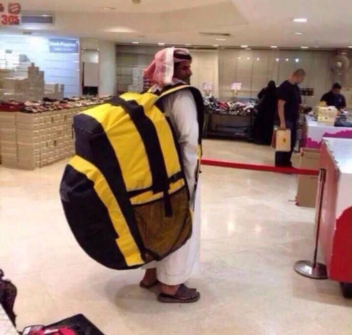العربي لما يسافر #مضحك