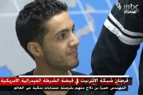 الشاب #حمزه_بن_دلاج المتهم بقرصنة أكثر من 217 بنكا، إضافة إلى مواقع لقنصليات أوروبية.