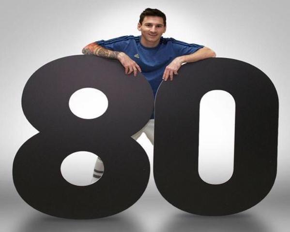 #ميسي عبر حسابه بـ فيسبوك يصل لـ ٨٠ مليون متابع. #الأرجنتين #برشلونة