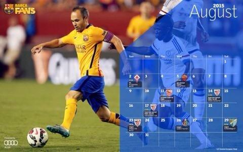 مُباريات #برشلونة في شهر أغسطس