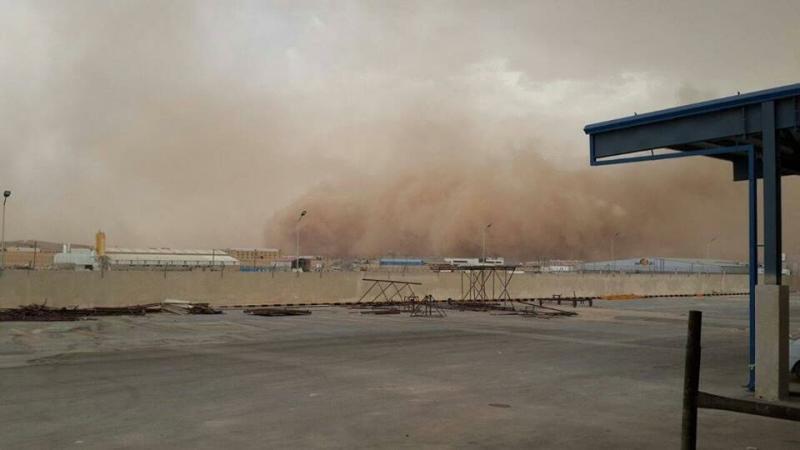 صوره عاصفة رملية في #عمان #العاصفه_الرمليه صوره رقم2