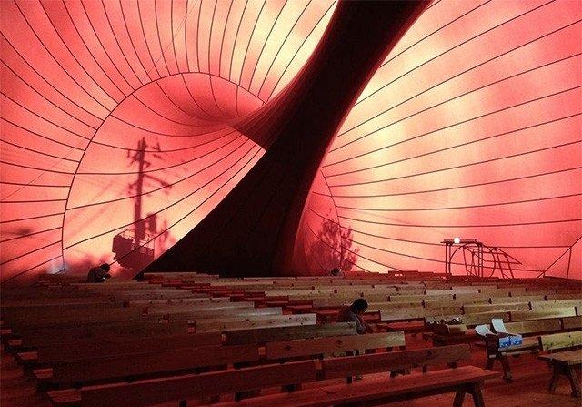 اليابان تصنع أول قاعة حفلات قابلة للنفخ في العالم #غرد_بصورة -صورة 3
