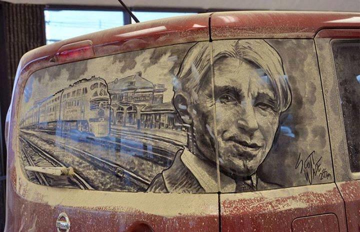 فن الرسم على غبار السيارات #غرد_بصوره صوره رقم 2