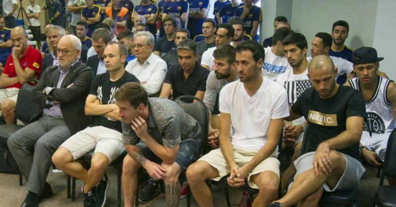 #ميسي و #نيمار و #نجوم #برشلونة يبكون في وداع #بيدرو