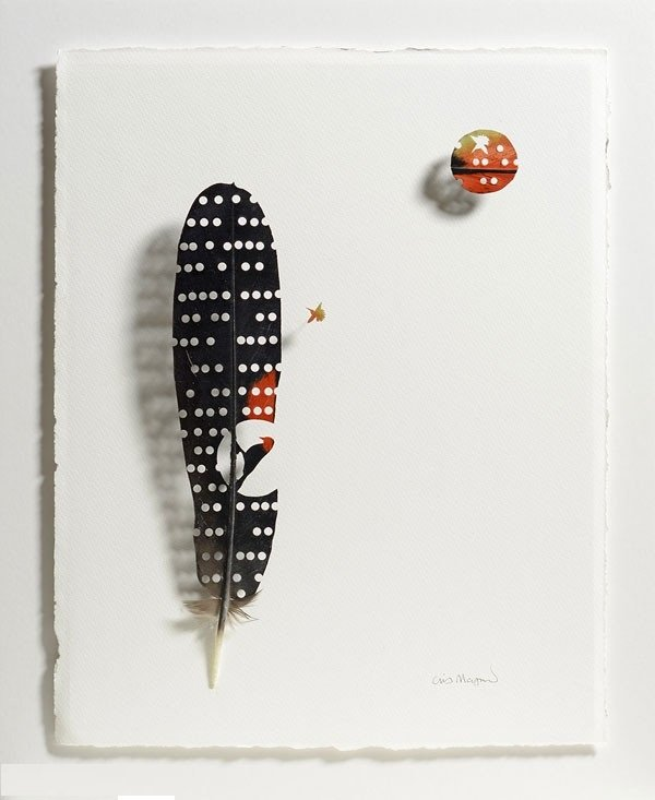 أعمال فنية رائعة من ريش الطيور #غرد_بصورة -صورة 7
