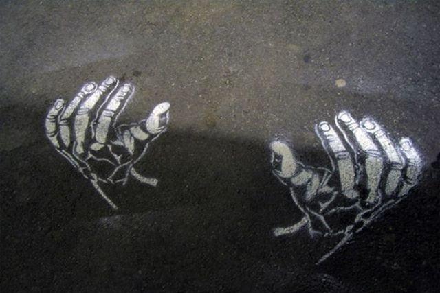 فن الرسم على الطريق والظل #غرد_بصورة- صورة 9