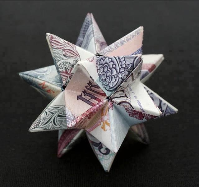 أجمل الأشكال الهندسية المكونة من المال ومن العملة الورقية #غرد_بصورة -صورة 3
