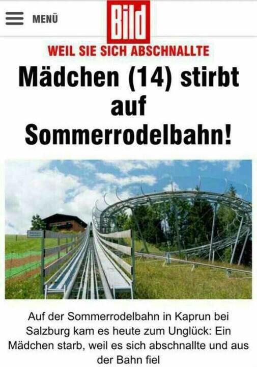 توفيت أمس سعودية 14عام بأحد مدن #النمسا حيث ركبت قطار الموت وحاولت توثيقها بـ #سناب_شات فاختل توازنها وسقطت من القطار