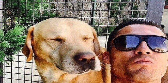 #سيلفي ل#كريستيانو رونالدو رفقة كلبه #كوره