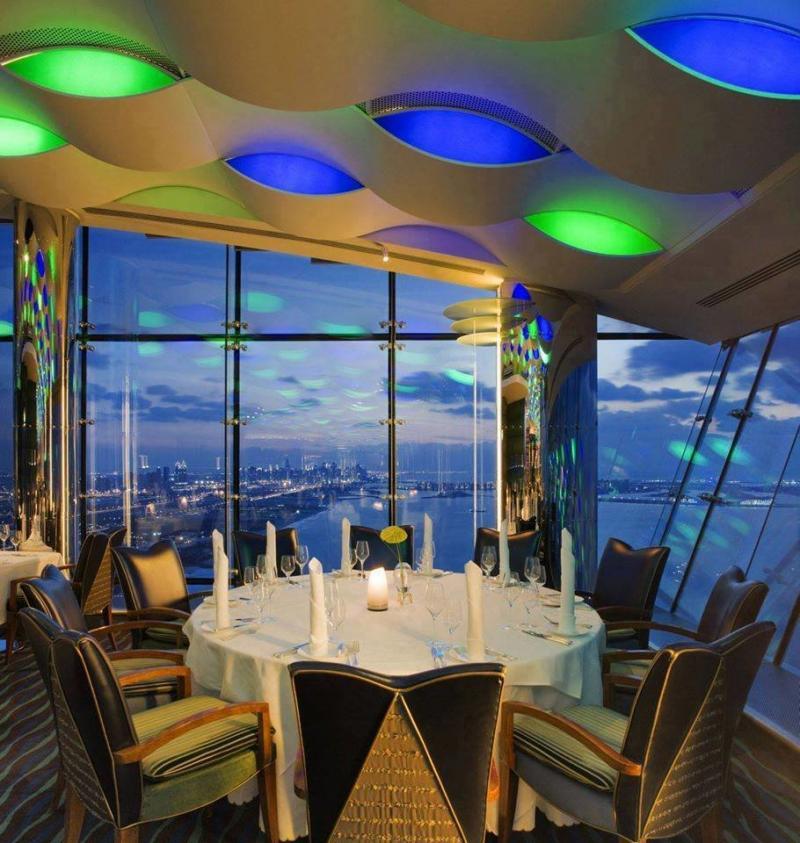 مطعم المنتهى في فندق #برج_العرب #دبي