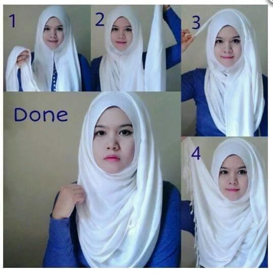 طرق أنيقه للف #الحجاب للوجه الدآئري -1