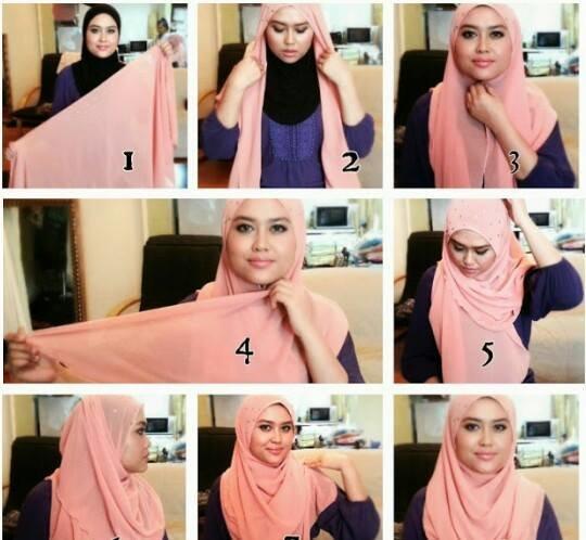 طرق للف الحجاب للوجه الممتلئ #موضه #ستايل -2